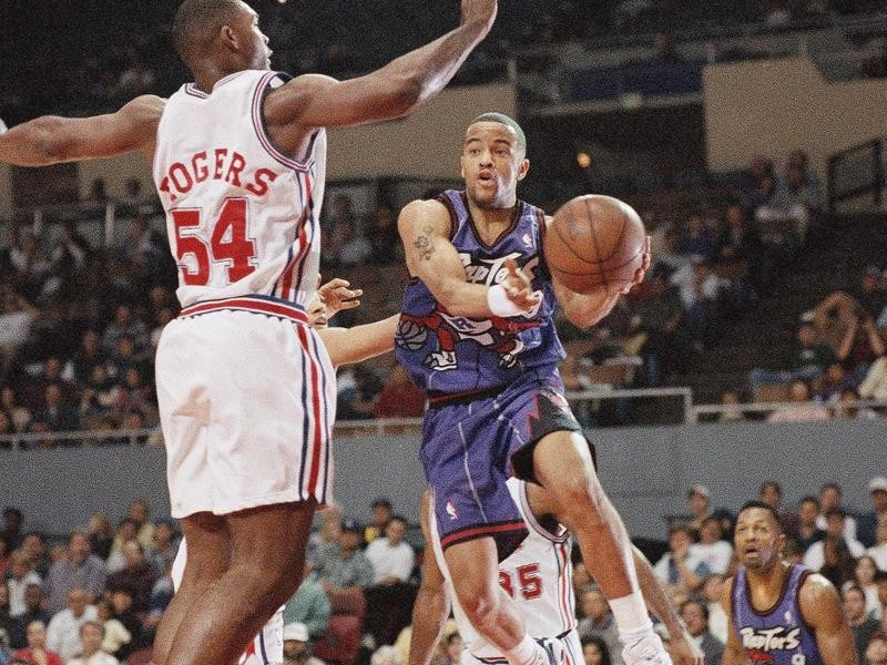Toronto Raptors point guard Damon Stoudamire