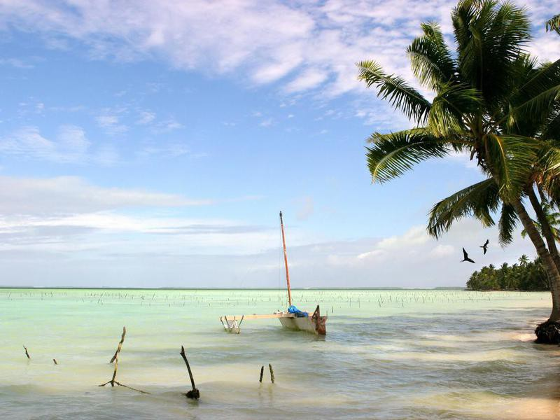 Fanning Island in Kiribati
