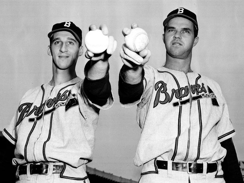 Warren Spahn and Johnny Sain