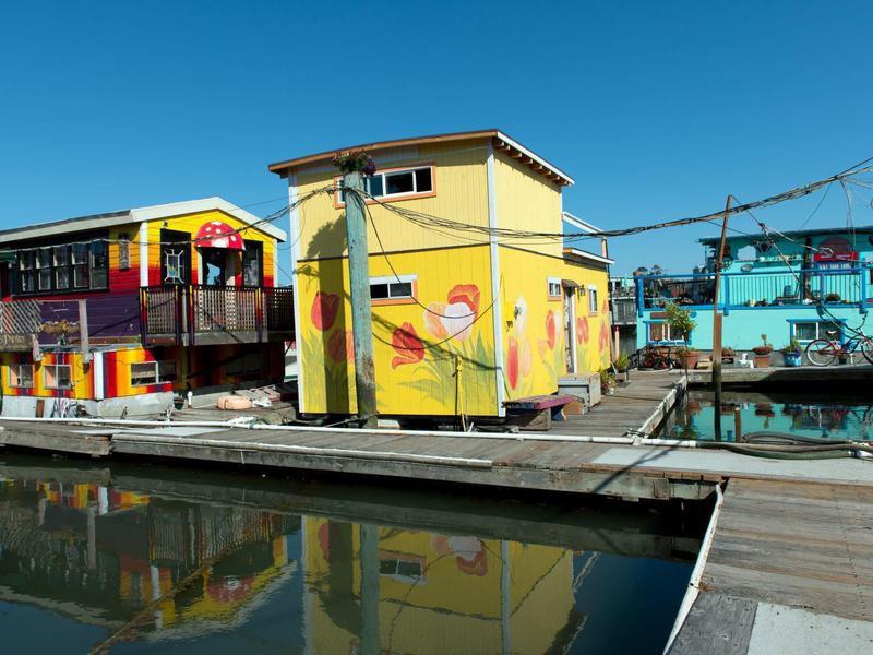 Floating houses in Richardson Bay