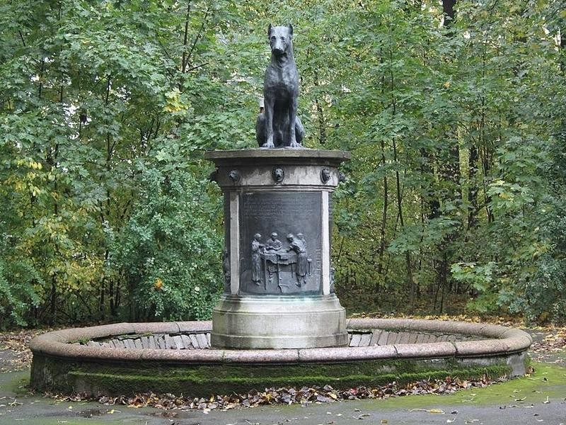 Monument to Pavlov's Dog at the Institute of Experimental Medicine in Russia