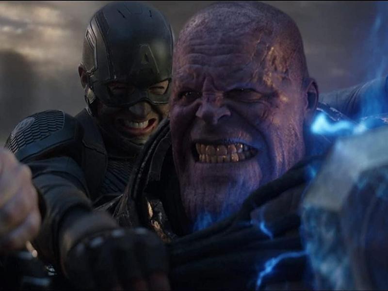 Captain America and Thanos