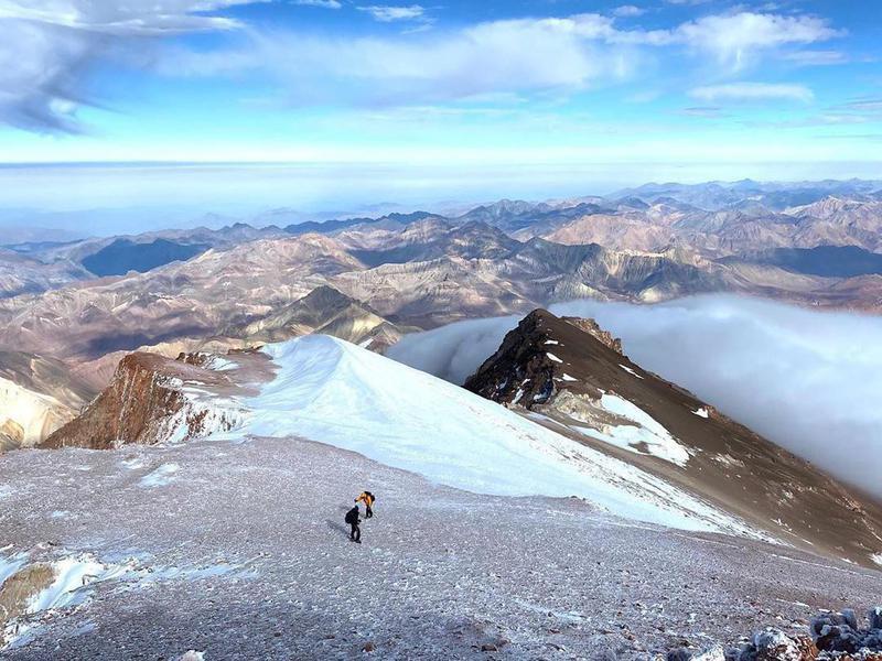 Climbers at Cerro Mercedario