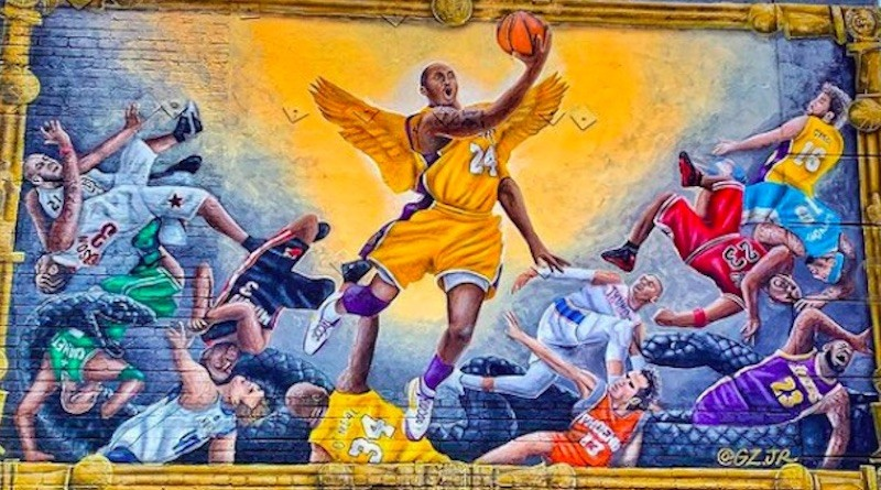 Kobe Bryant mural in Fairfax District, Los Angeles