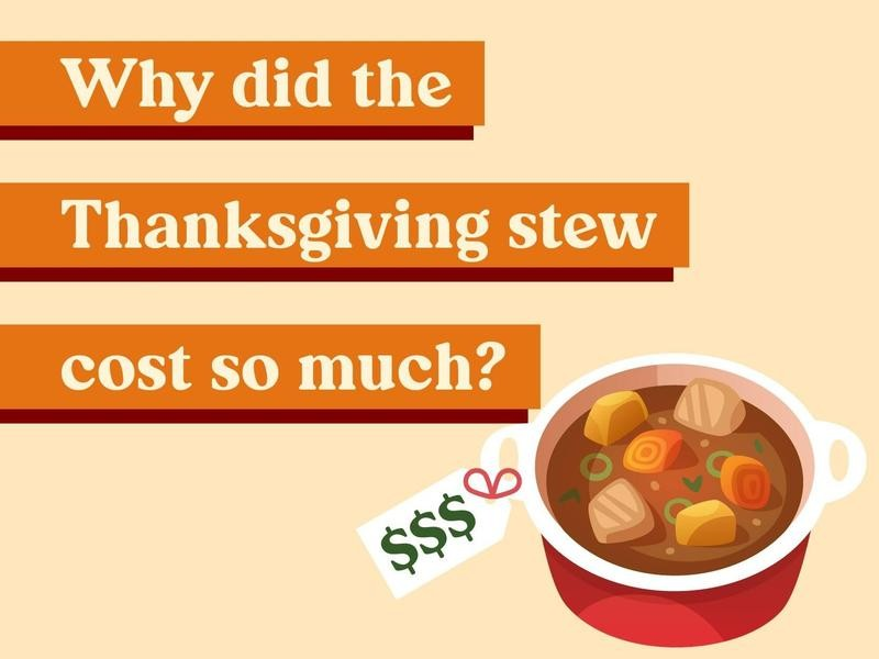 Why did the Thanksgiving stew cost so much?