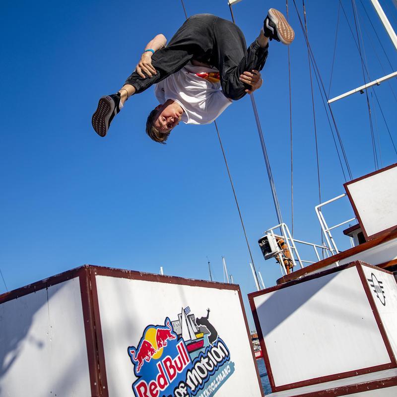 Archie Aroyan performs jump