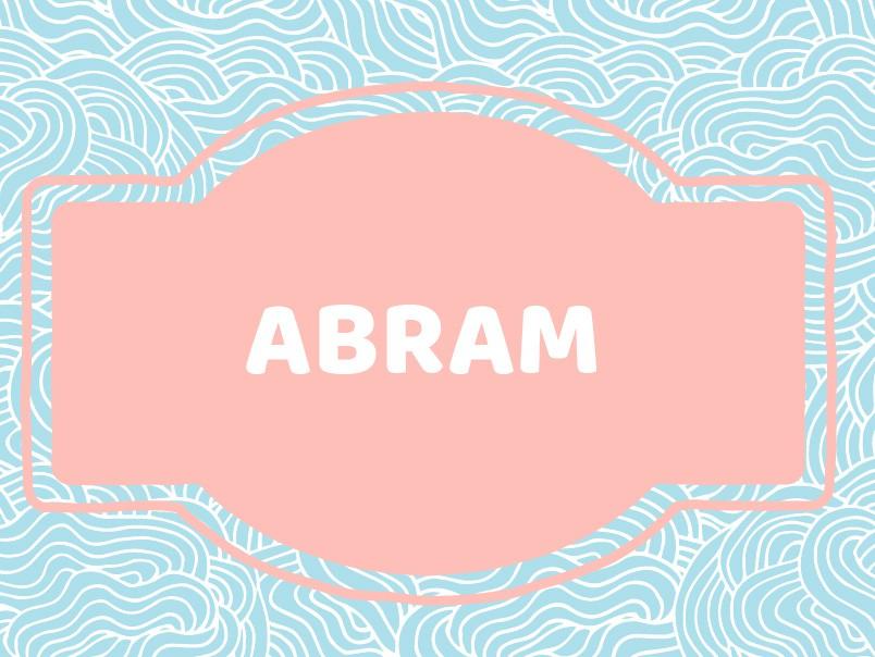 Unique Baby Boy Names: Abram
