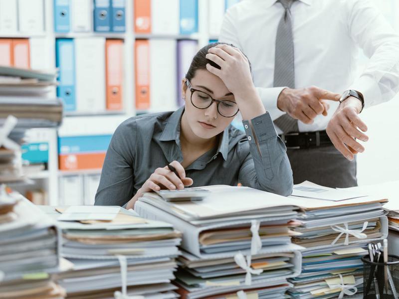 Demanding boss and deadlines