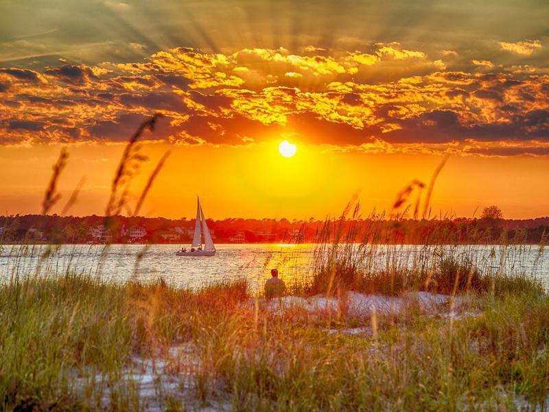 Sunset over Wrightsville Beach
