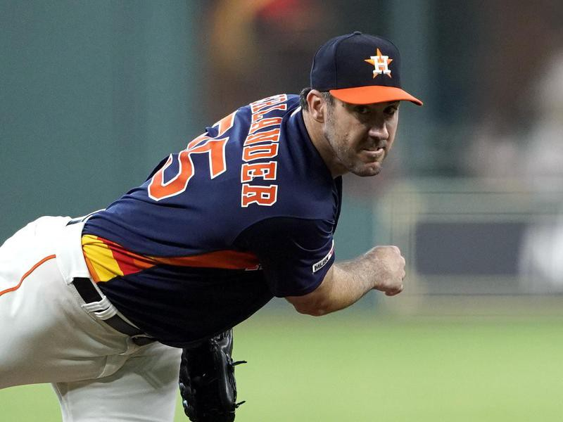 Houston Astros starting pitcher Justin Verlander