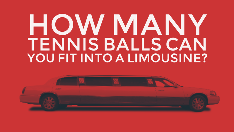How many tennis balls can you fit into a limousine?
