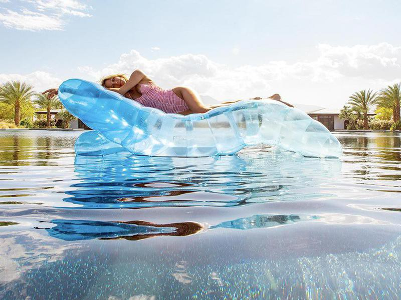 Clear Blue Chaise Lounger