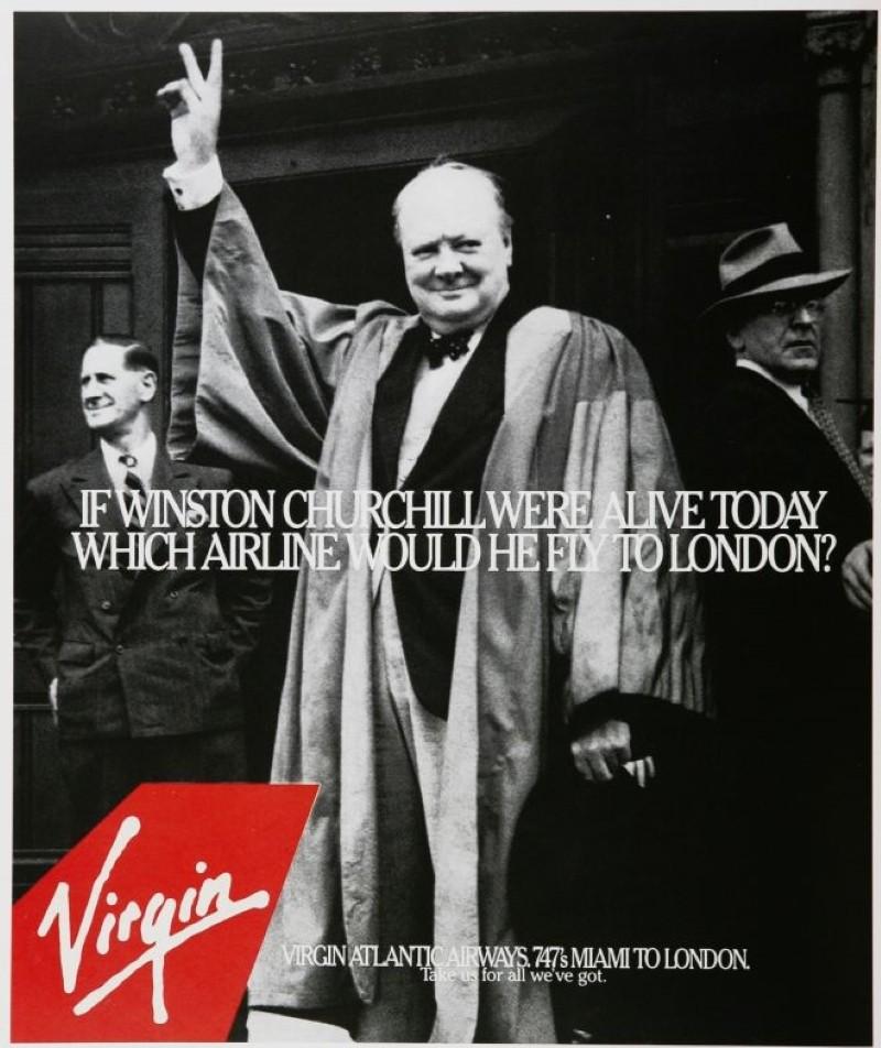 Vintage Virgin airline ad