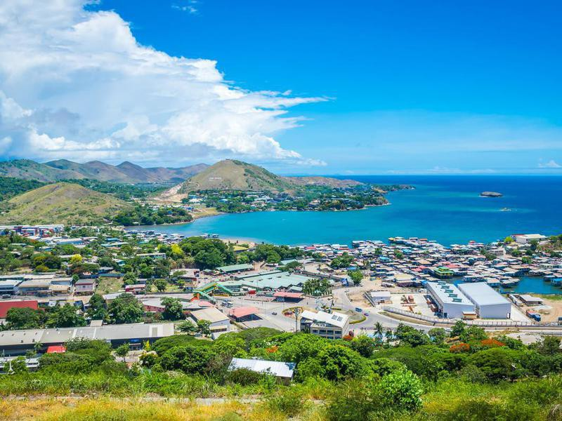Aerial view of Port Moresby