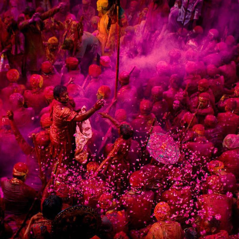 Holi celebration in Uttar Pradesh