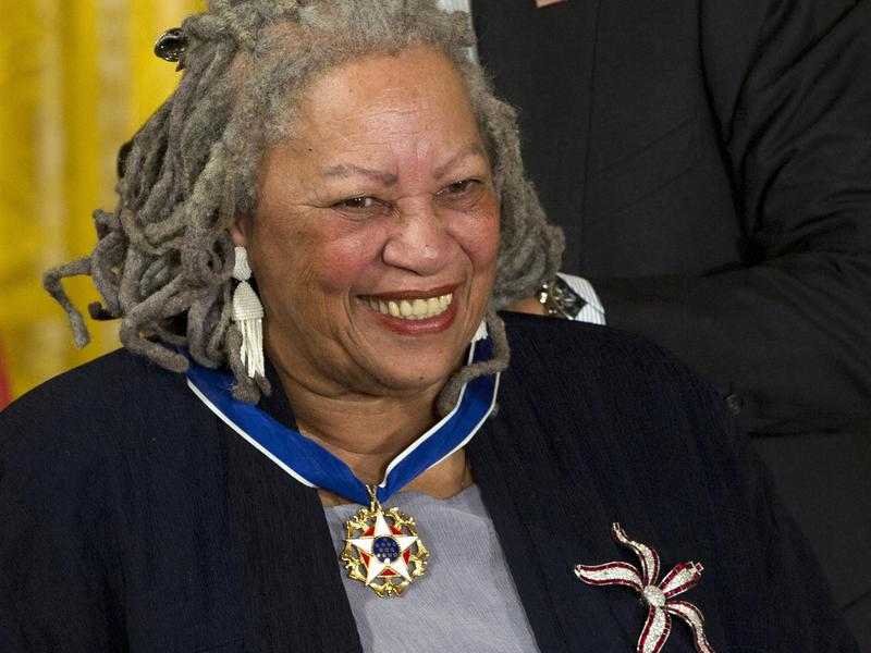 Being like legendary literary novelist Toni Morrison, shown here receiving her Medal of Freedom award during a ceremony in the East Room of the White House, was Shonda Rhimes's first goal.