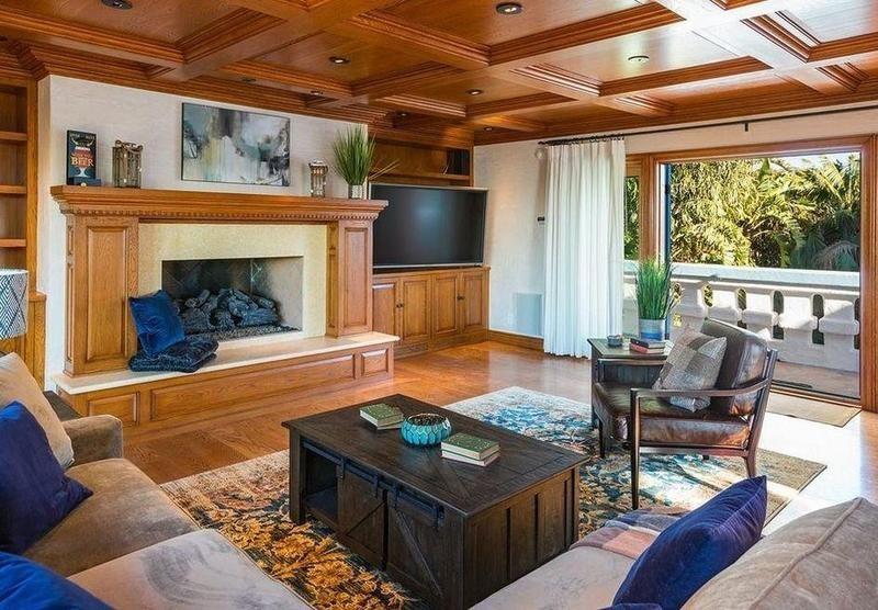 Den in Pierce Brosnan's old house