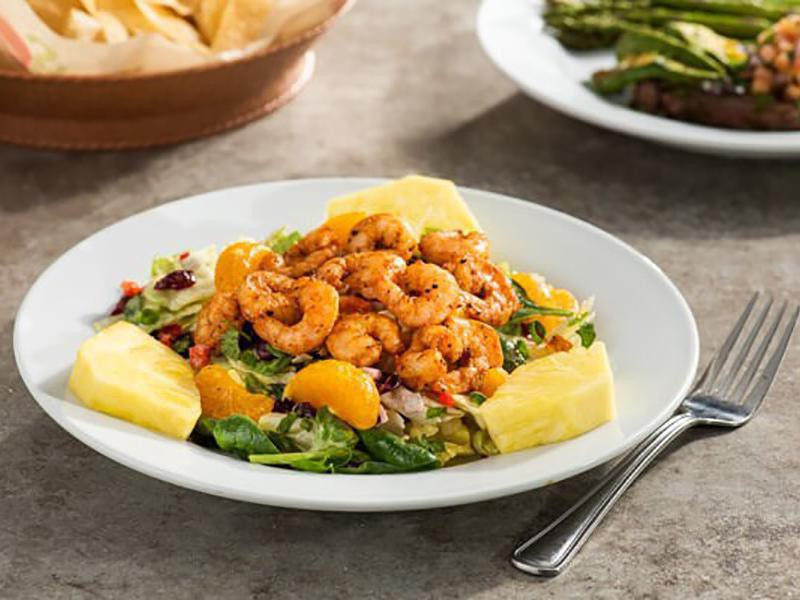 Caribbean Shrimp Salad, one of their healthiest fast food items