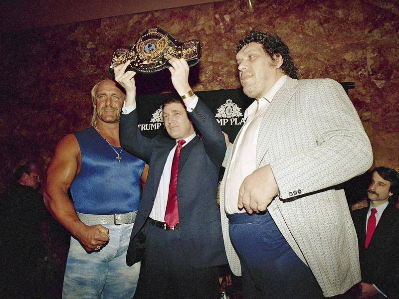 Donald Trump, Hulk Hogan and Andre the Giant