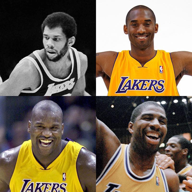 Kareem Abdul-Jabbar, Kobe Bryant, Magic Johnson, Shaquille O'Neal