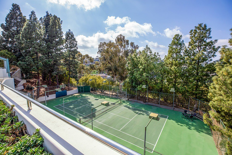Pharrell Williams' tennis court