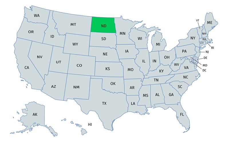 North Dakota gender equality & work environment for women