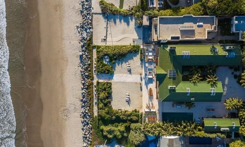 Aerial view of Pierce Brosnan's house