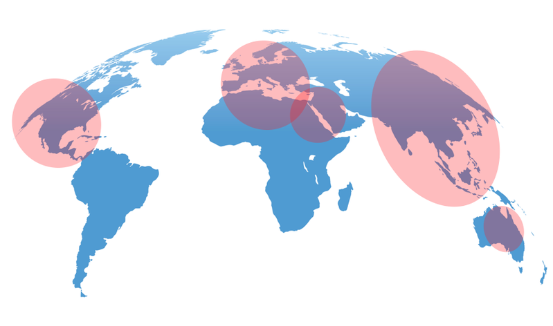 Map of Highest Concentrations of Coronavirus Outbreaks