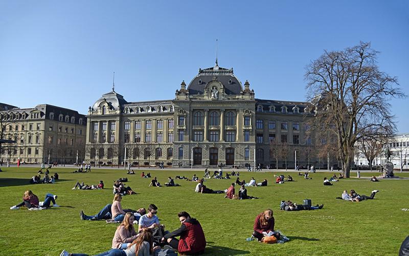 University students in Switzerland