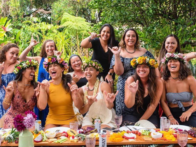 Bachelorette brunch in Maui