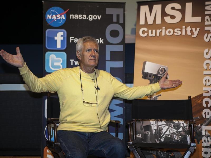 Trebek at a NASA social media event in 2012