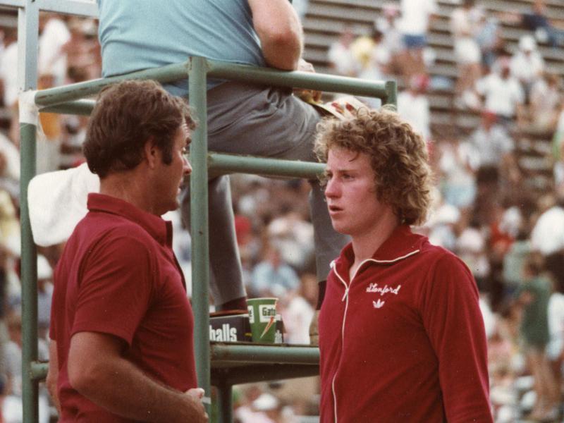 John McEnroe and Dick Gould