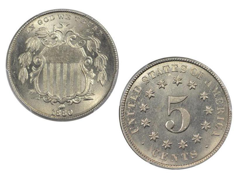 1880 Shield Nickel