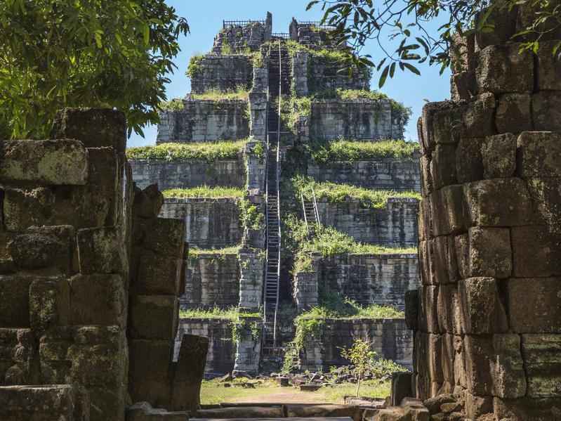 Prang Pyramid at Koh Ker, Cambodia