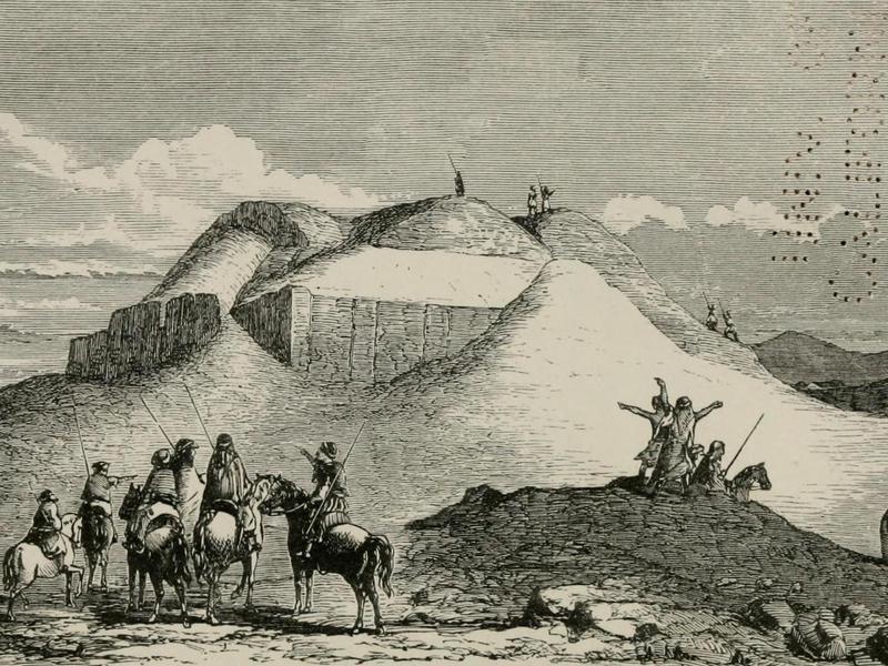 Ziggurat of Ur discovery illustration
