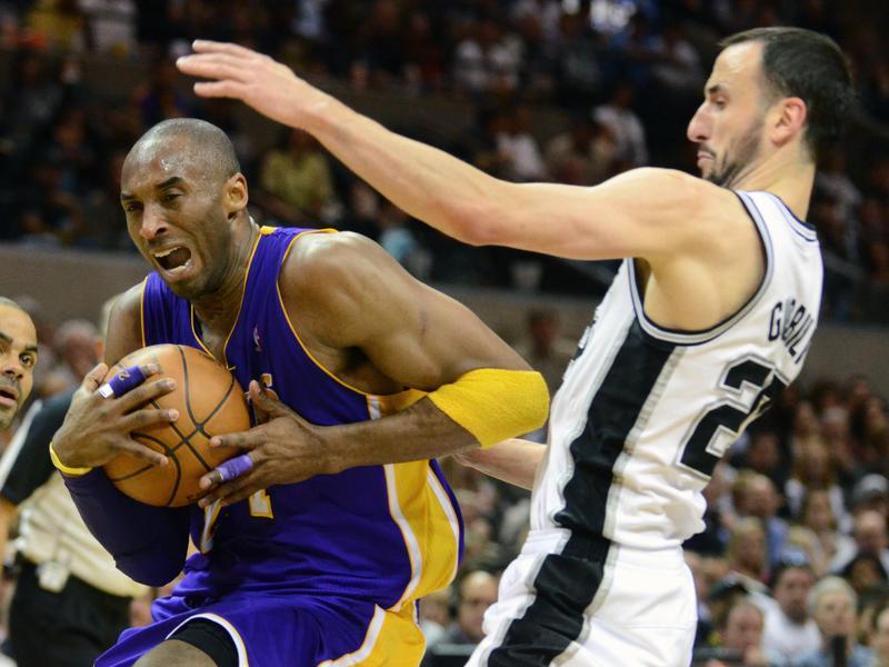 Kobe Bryant and Manu Ginobili
