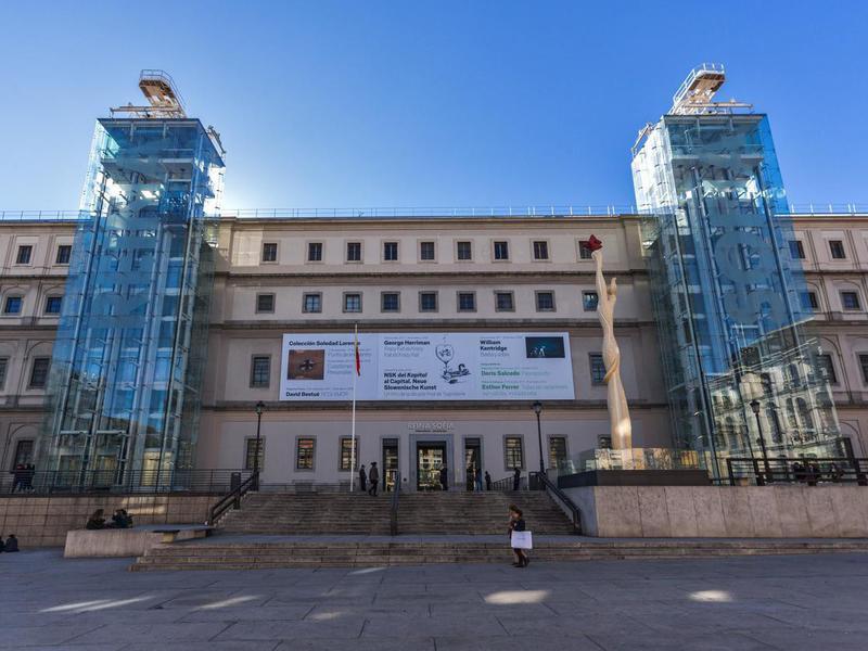 Reina Sofia National Art Museum in city of Madrid, Spain