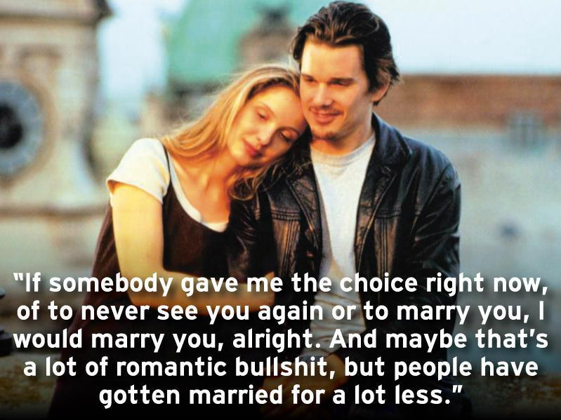 Ethan Hawke and Julie Delpy in Before Sunrise (1995)