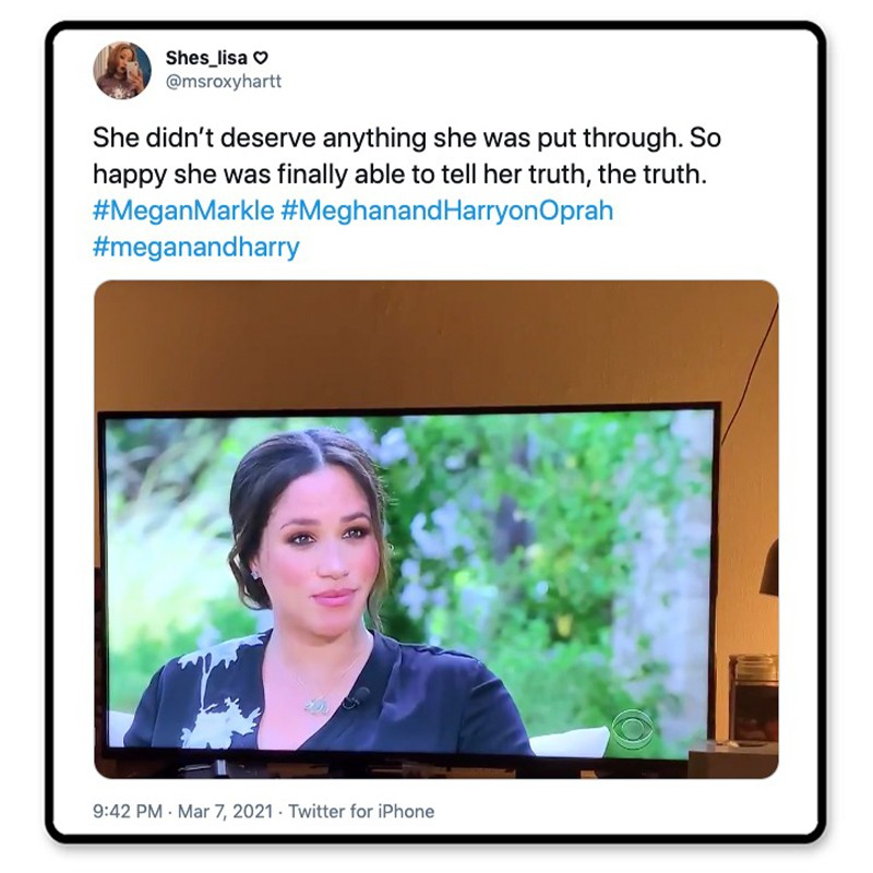 Meghan tells the truth
