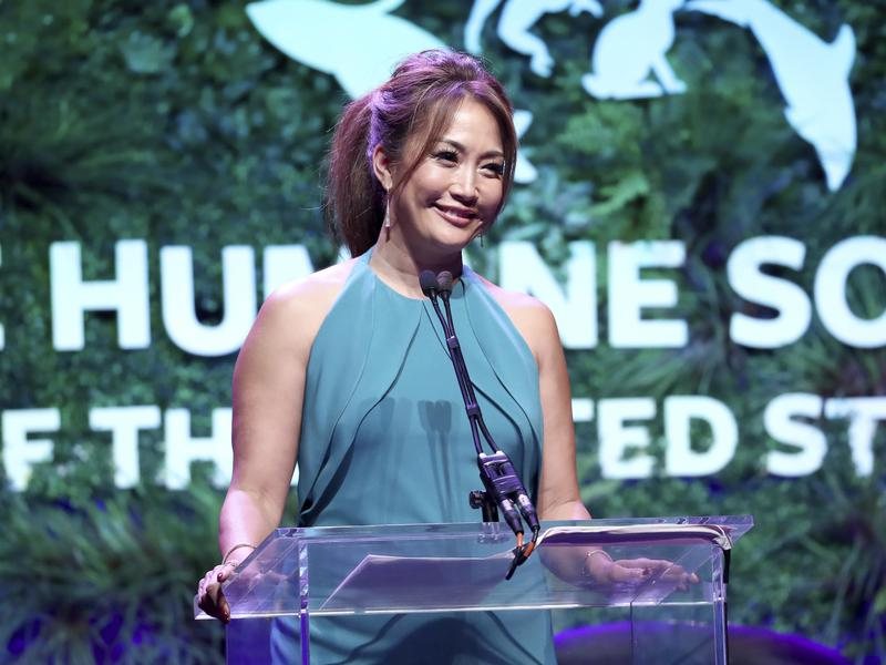 """Carrie Ann Inaba of """"Dancing With the Stars"""" speaks at the Humane Society of the United States' To the Rescue! Los Angeles gala in 2018."""