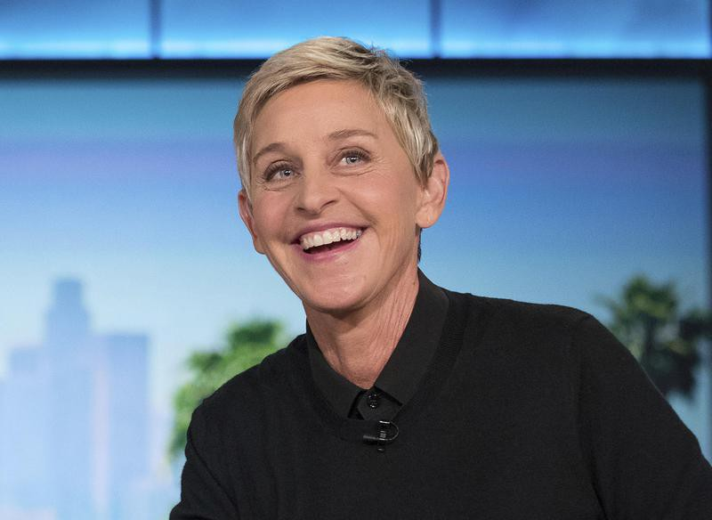"Ellen smiles during commercial break at taping of ""The Ellen Show"""