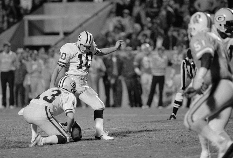 Green Bay Packers kicker Jan Stenerud
