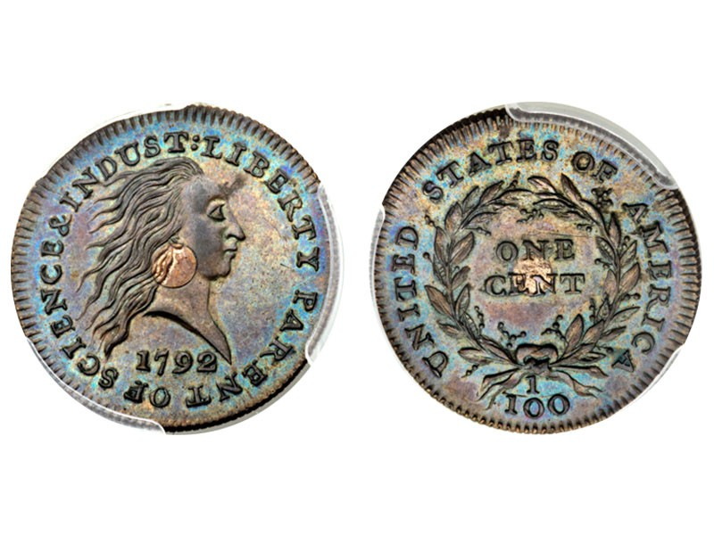 1792 Silver Center One Cent Pattern