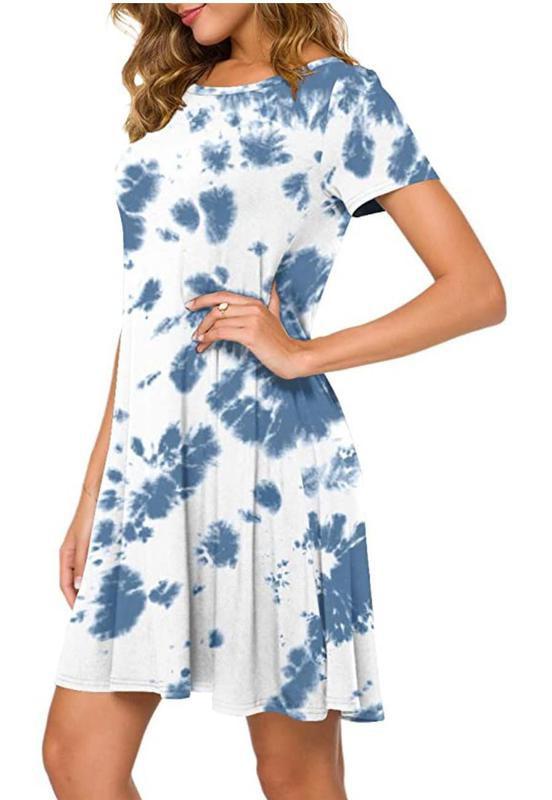 Popyoung Women's Summer Casual T-Shirt Dress