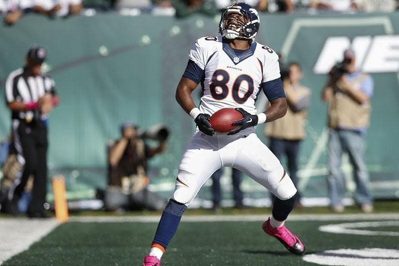 Julius Thomas catching a touchdown pass with the Denver Broncos