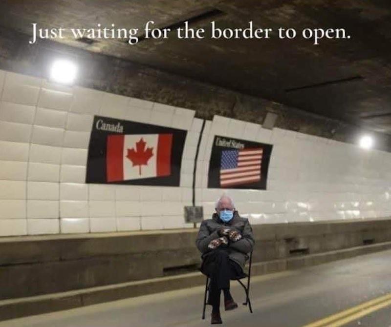 Bernie Sanders at the Canadian border