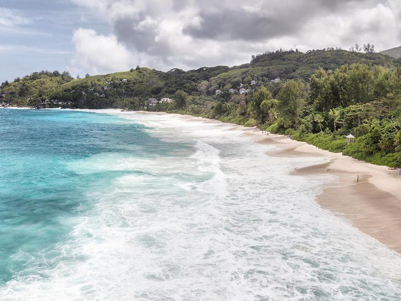 Aerial view of Anse Intendance