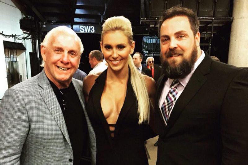 Ric, Charlotte and David Flair