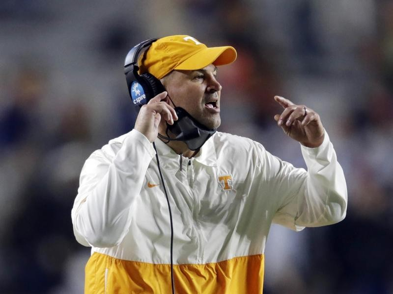 Tennessee head coach Jeremy Pruitt