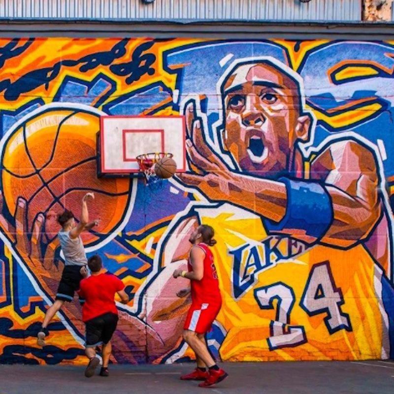 Kobe Bryant mural in Russia